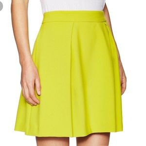 Trina Turk Ferne yellow lime skirt